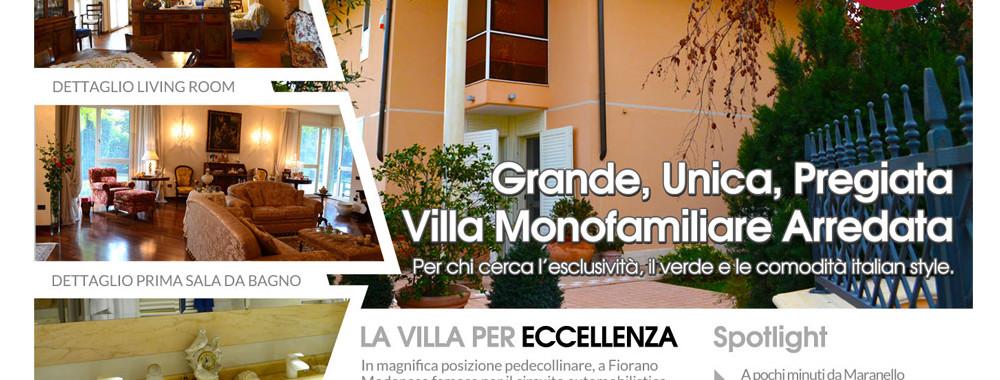 Splendida Villa Arredata Monofamiliare. Fiorano Modenese (Mo).