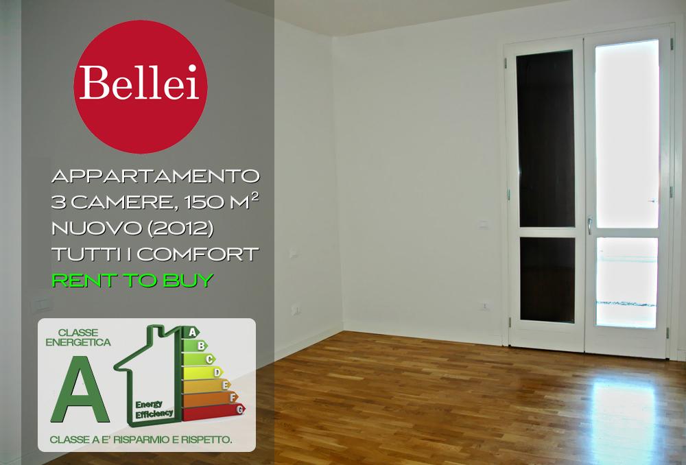 Appartamento nuovo classe a 3 camere 150 mq sassuolo for Piani casa 3 camere da letto e garage doppio