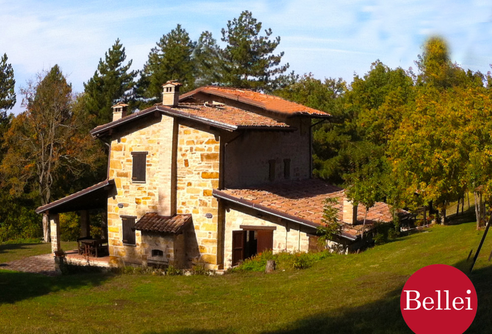Rustico immerso nel verde, incantevole con laghetto e 75.000 mq di bosco. Serramazzoni (Modena). Vendita.