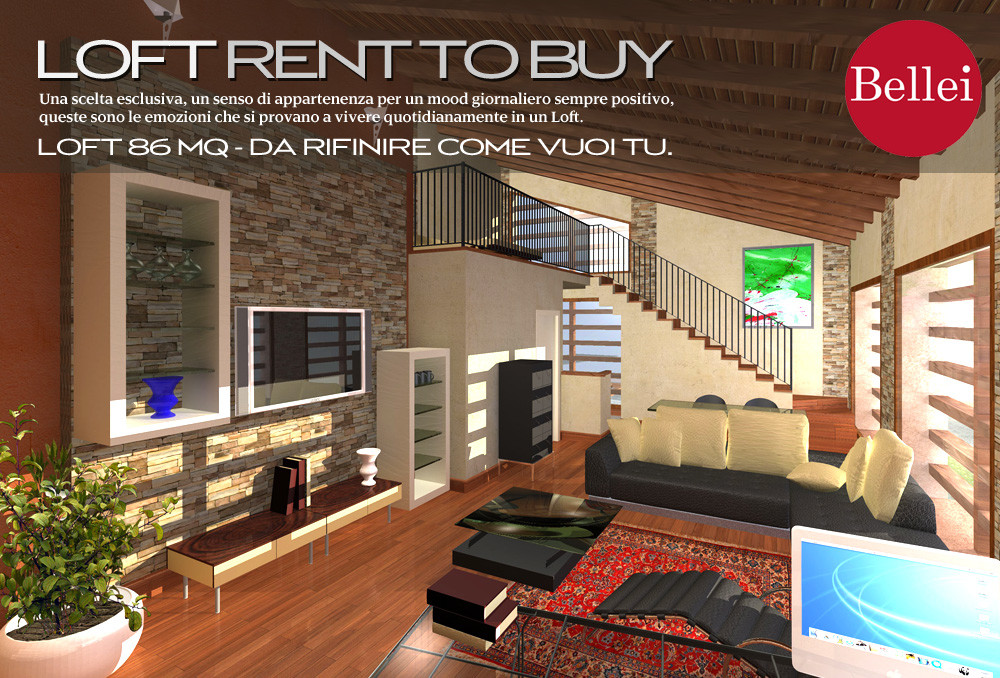 Exclusive loft to finish at will, Sassuolo (Mo). Rent to Buy.